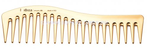 Гребень Ibiza Hair Wave Comb Gold, золотой металлик