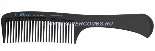 Гребень с ручкой Ibiza Hair Detangle Handle Comb Сarbon, карбоновый