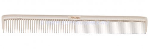 Расчёска Leader Comb Ultem SP #123 Fine Cutting Comb, белая