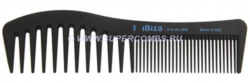 Гребень Ibiza Hair Wave Comb Carbon, карбоновый